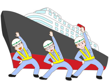 Dock workers exercise