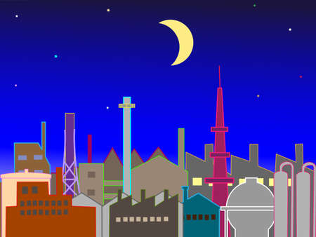 night: Industrial night scenery