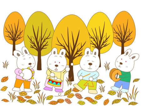 clarinete: conejo concierto Vectores