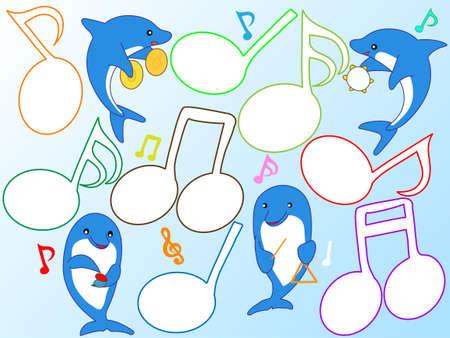 nursery tale: Concert of the dolphin