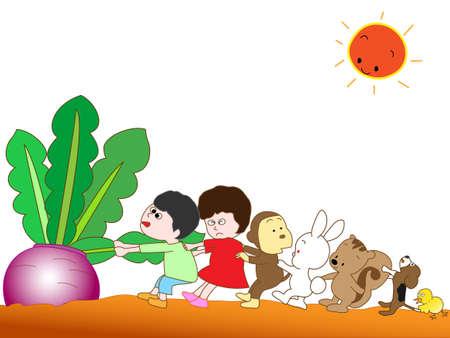 super dog: Harvesting turnips