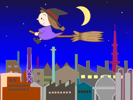 industrial complex: Busy with Halloween witch