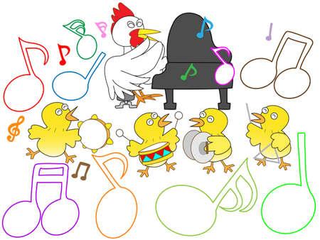 pollitos: concierto de pollo