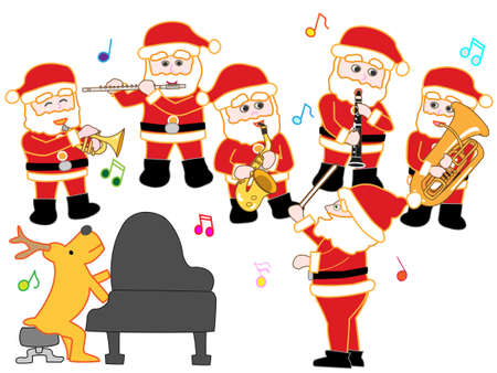 Santa Claus Christmas concert