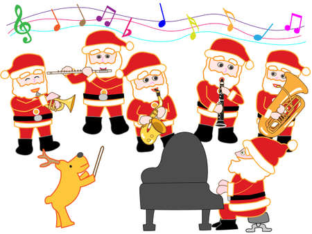 clarinete: concierto de Navidad de Santa Claus