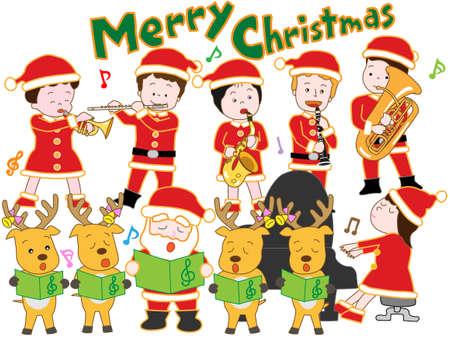 clarinete: Concierto de Navidad  Vectores