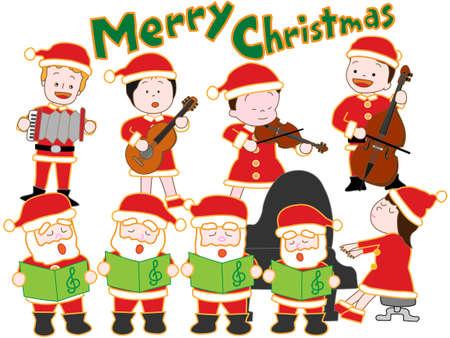acordeon: Concierto de Navidad  Vectores