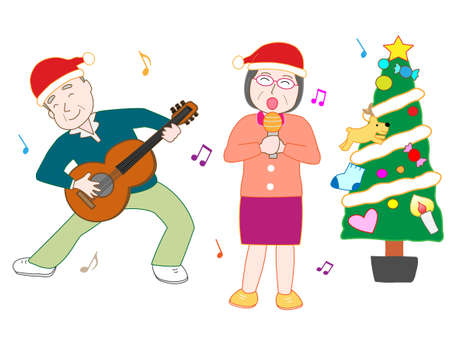 nursing association: Christmas concert at the facility for the elderly Illustration