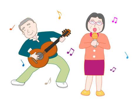 nursing association: Senior couple concert