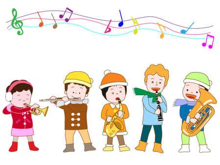nursery tale: Winter concert Illustration