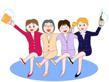 womens work: Womens Association at the banquet