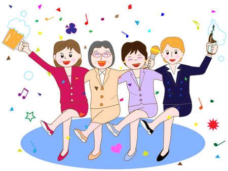 Womens Association at the banquet