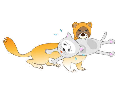 Weasels eat cats Illustration