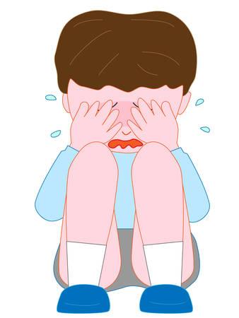 Children cry Illustration