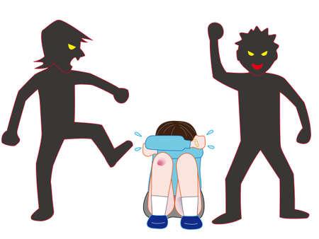 Bullying in children Illustration