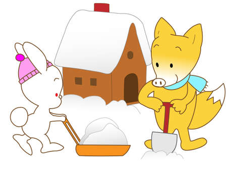 removal: Snow removal work in animals