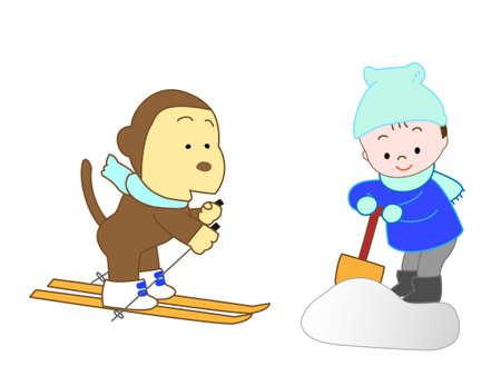 Help animals for boys Illustration