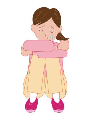 Women cry Illustration