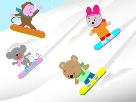 pom: Animal winter sports