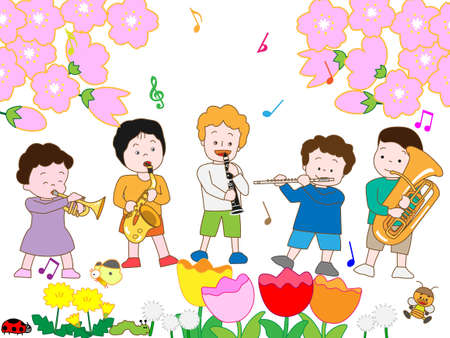 Childrens Spring concert Vectores