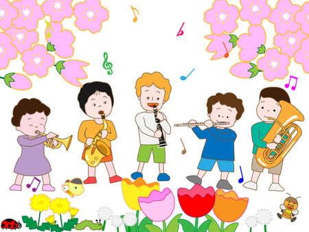 Childrens Spring concert Illustration