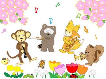 Spring animals music