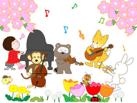 Animals of the Spring concert Illustration