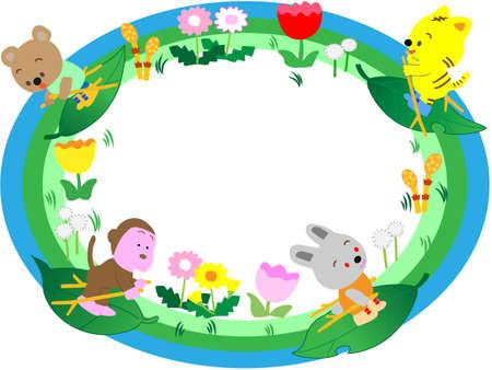 su: Spring title frame