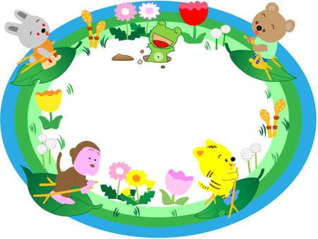 nursery tale: Spring title frame