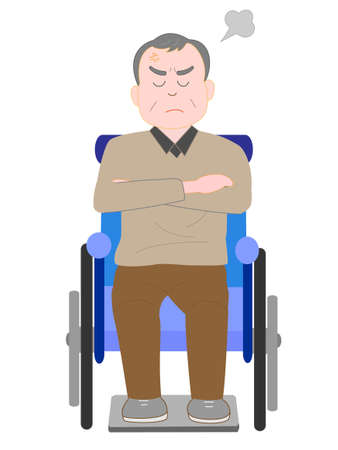 Wrath of the elderly in wheelchairs Illustration