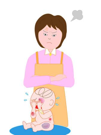 birthmark: Abusive baby mother