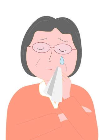 Schreeuw voor ouderen Vector Illustratie