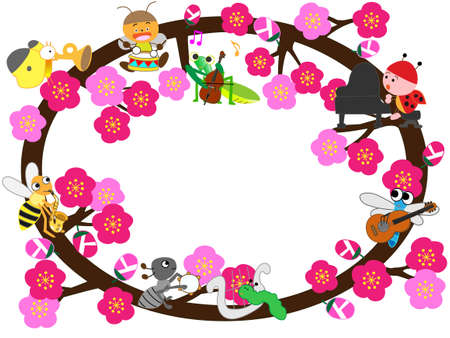 title: In early spring the title frame Illustration