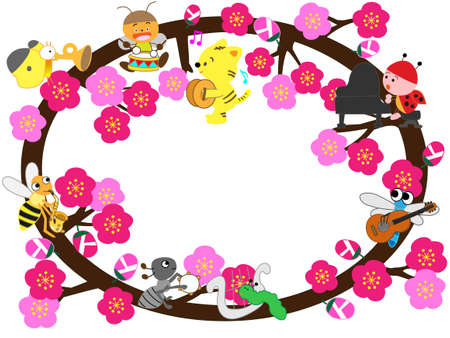 In early spring the title frame Illustration