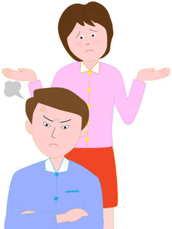 Familie problemen. De ruzie tussen het echtpaar.