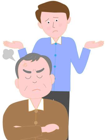 家族の悩み  イラスト・ベクター素材