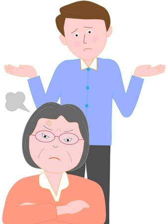 familie problemen Vector Illustratie