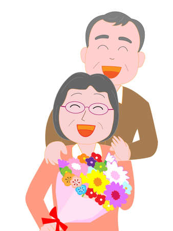 Send a bouquet of thanks to my wife Illustration