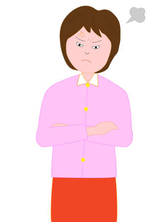Women get angry Illustration