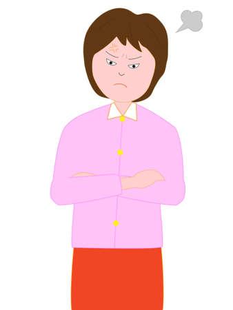 lovers quarrel: Women get angry Illustration