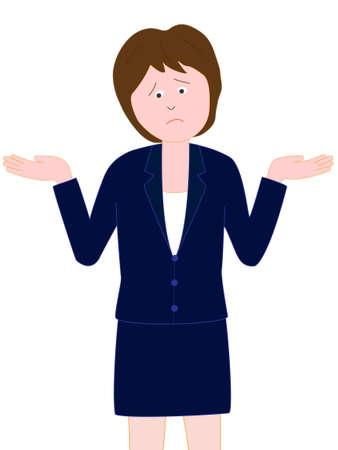 ol: Businesswoman posing trouble Illustration