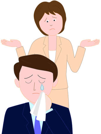 scold: Trouble at the Office Illustration
