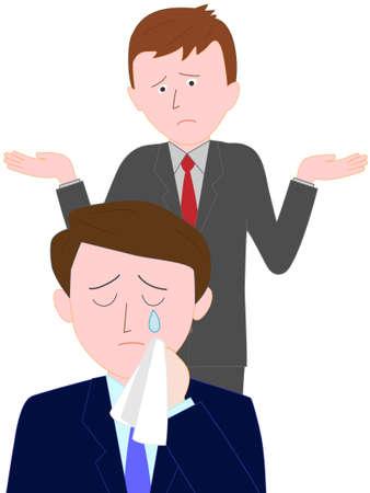 Problemen op kantoor Stock Illustratie