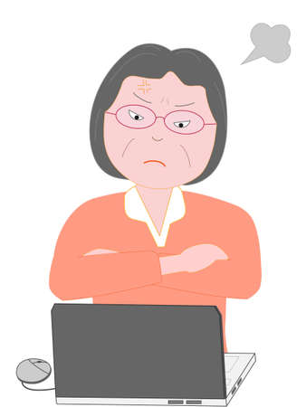 Women angry computer troubles