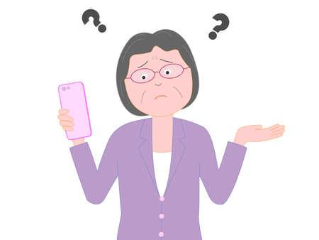 Troubled Smartphone problems senior businesswomen