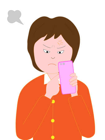 Women angry Smartphone problems