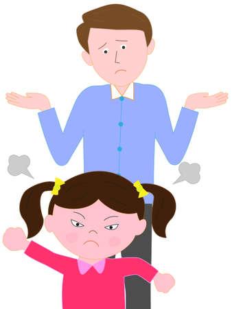 Ouders van verontruste kinderen boos Vector Illustratie