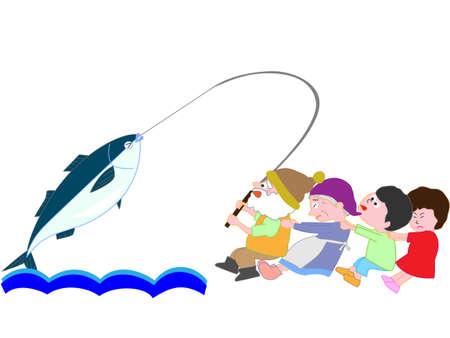 子供たちのための釣り  イラスト・ベクター素材
