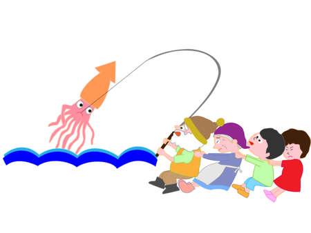 Squid fishing to help children