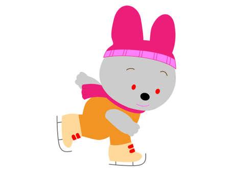Skating rabbit